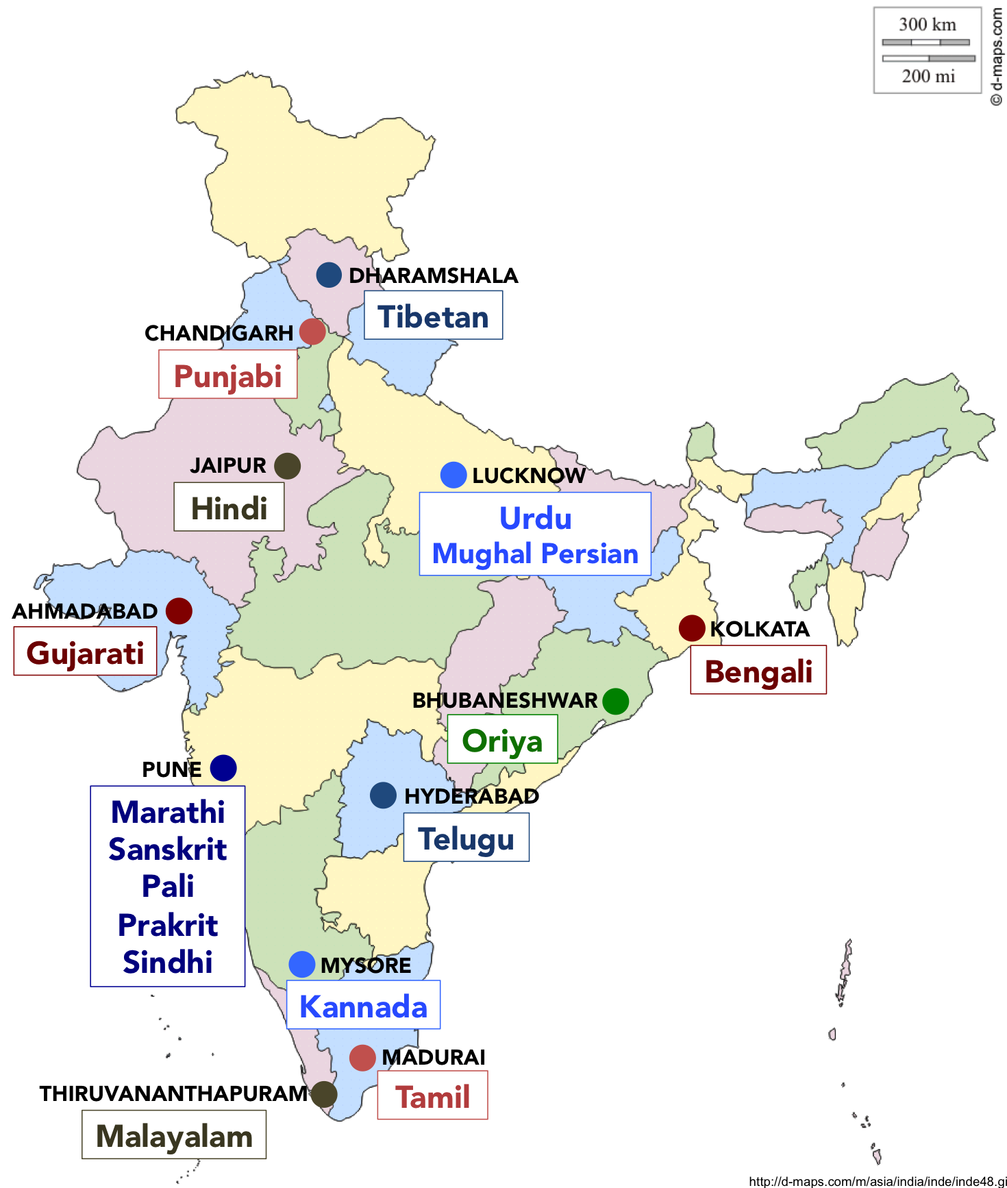 AIIS Language Program map