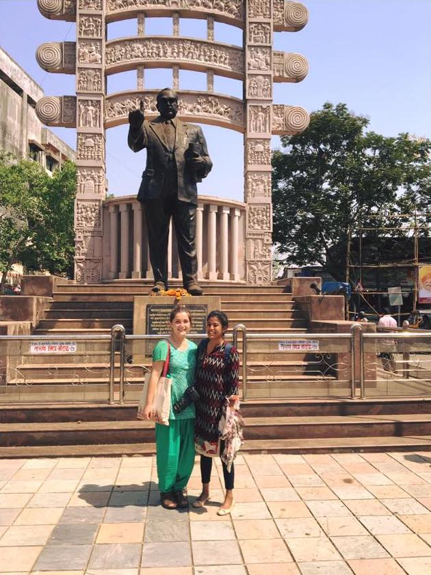 Emma at Ambedkar Monument