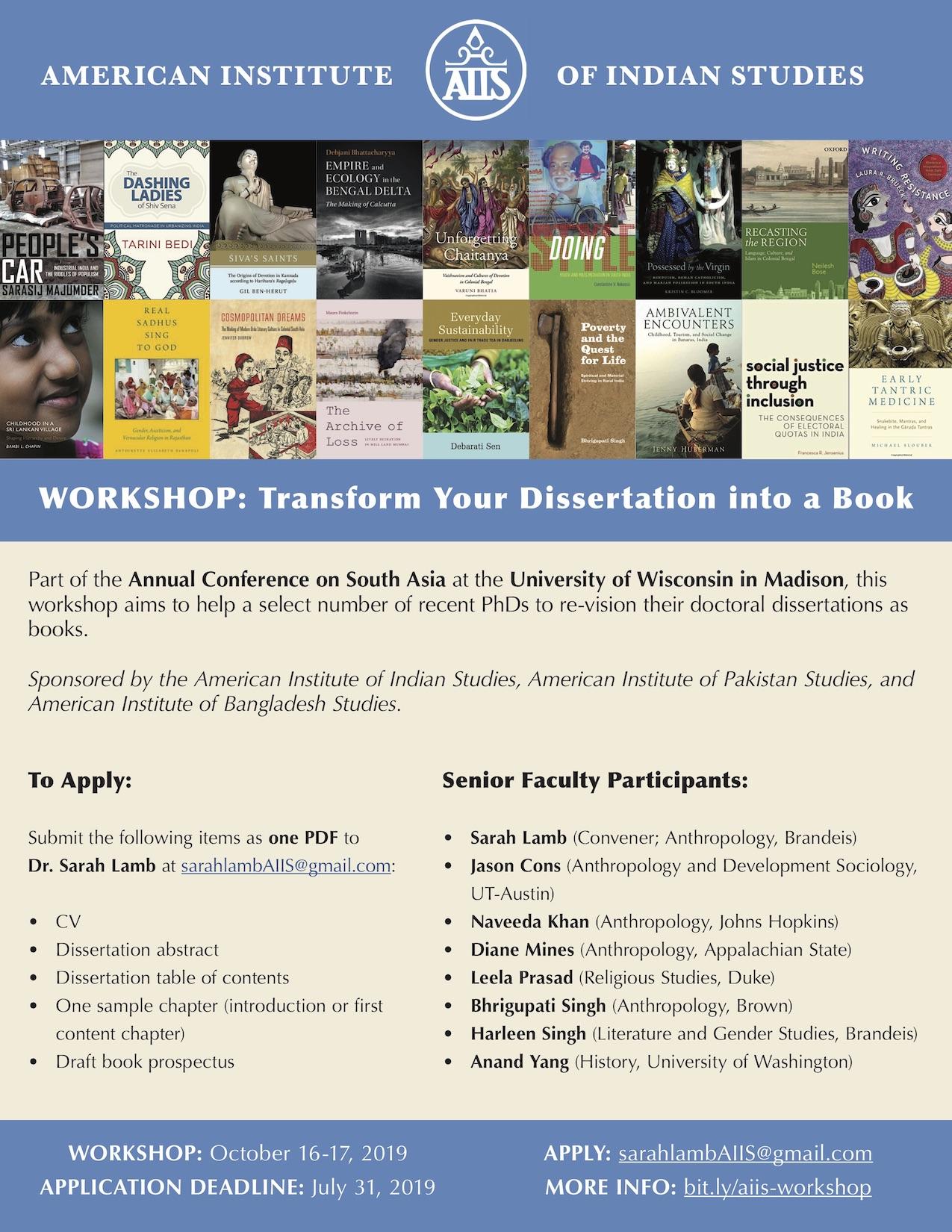 Dissertation workshop