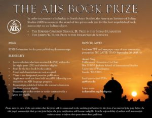 AIIS Book Prize 2019 - American Institute of Indian Studies