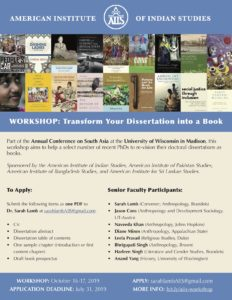2019 AIIS Dissertation Workshop pdf flyer