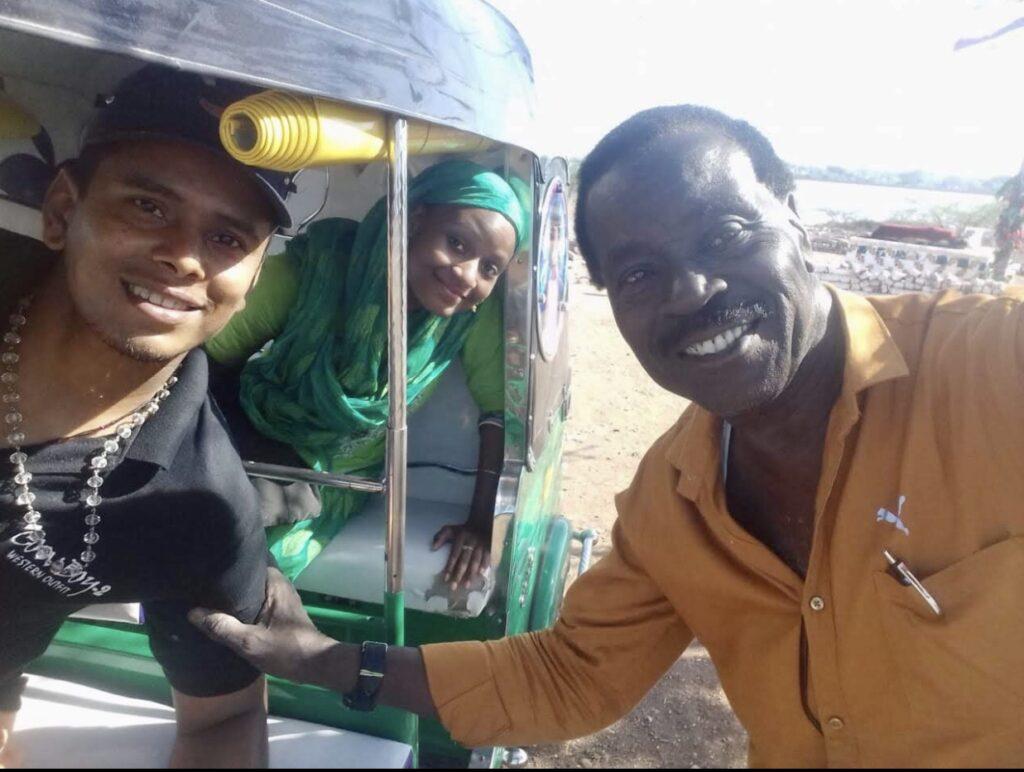Jazmin in Rickshaw