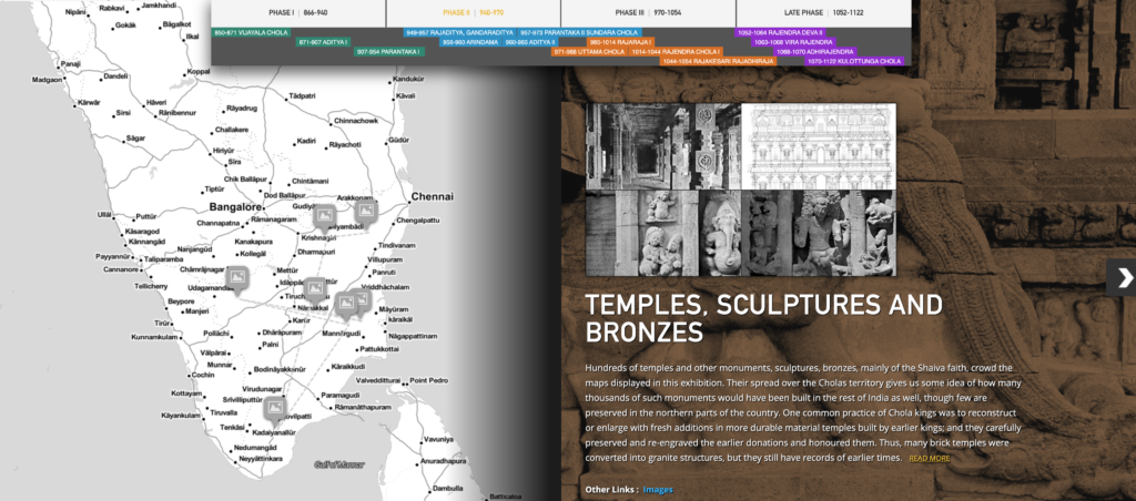 Screenshot from Chola Temples exhibit on VMIS site